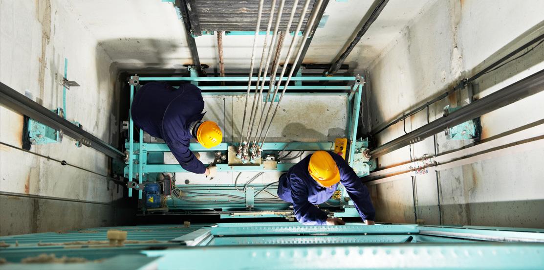 Obras auxiliares en instalación de ascensores